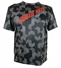 Volný dres HAVEN Cubes   NEO Black/Red