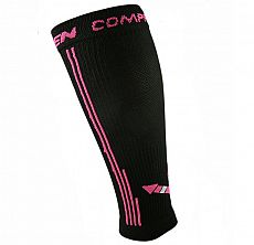 Kompresní návleky HAVEN Compressive Calf Guard EvoTec black/pink- MIDDLE COMPRESSION