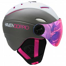 Ski/snb helma HAVEN DOPPIO white/pink