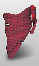 Šátek Airhole Reversable plaid Red
