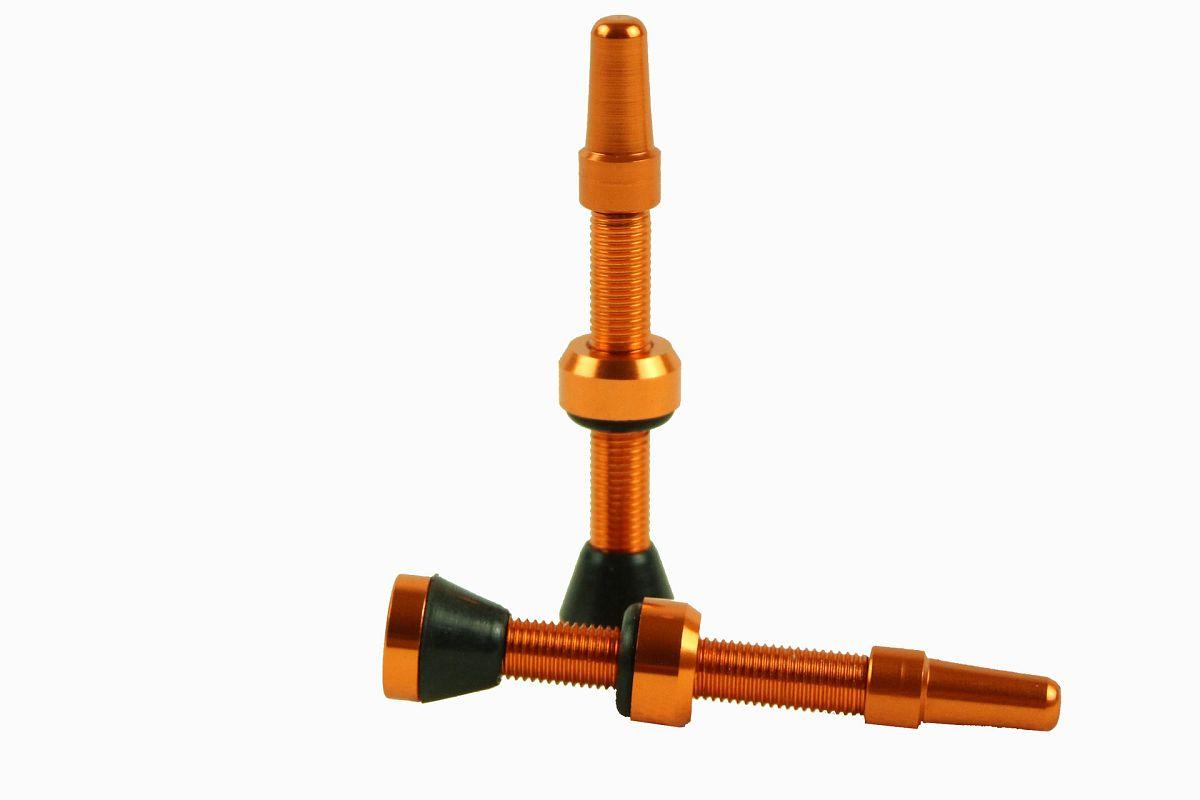 Bezdušové ventilky HAVEN NEO alu 34mm orange ... ekonomické balení 2ks ekonomické balení