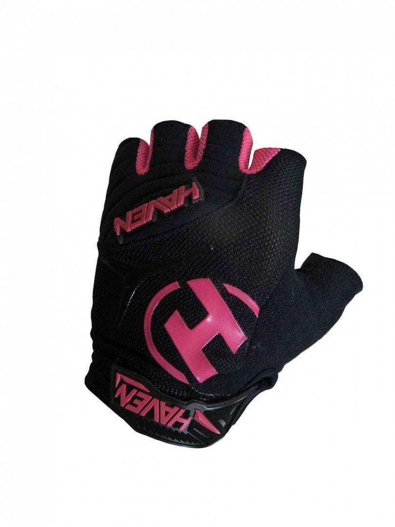 Krátkoprsté rukavice HAVEN DEMO SHORT black/pink