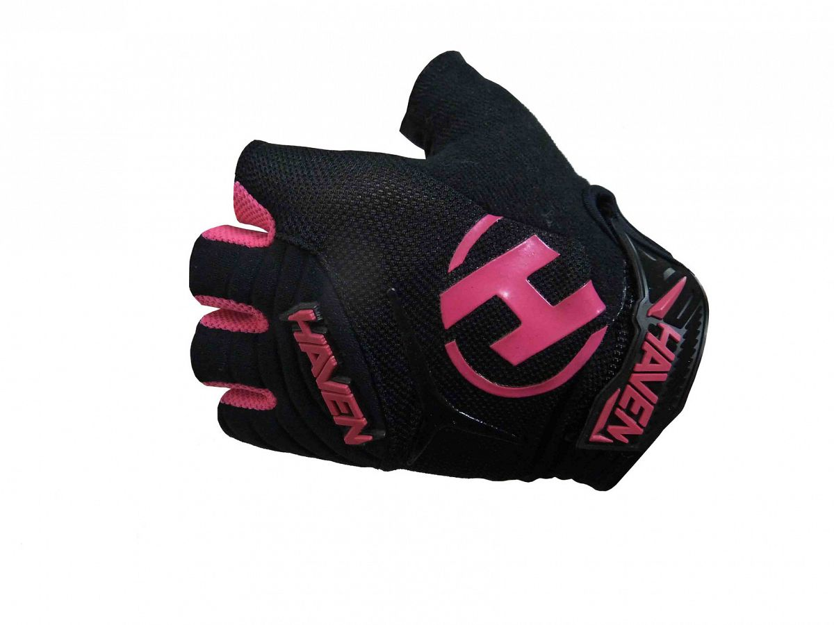 Krátkoprsté rukavice HAVEN DEMO KID SHORT black/pink vel. 1 (4-6 rokov)