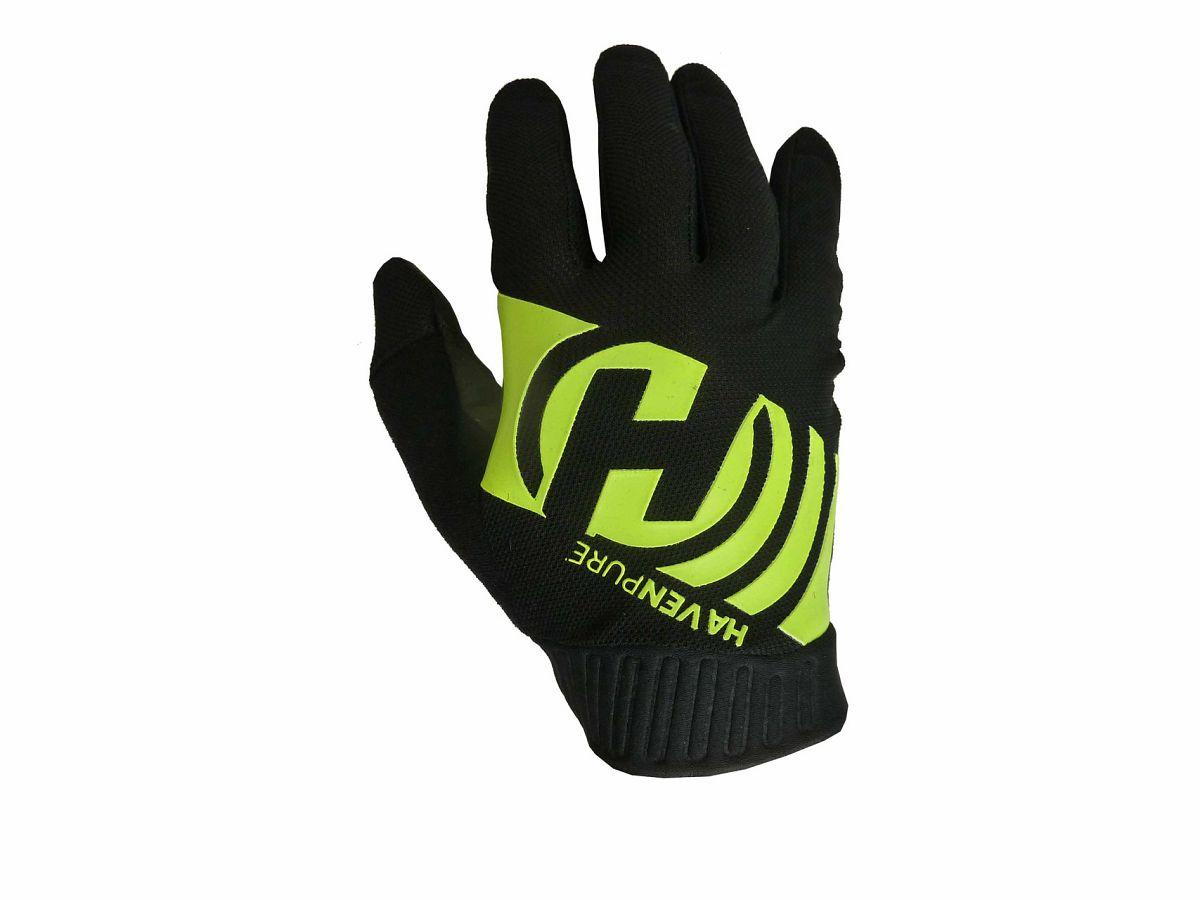 Dlhoprsté rukavice HAVEN PURE black/green