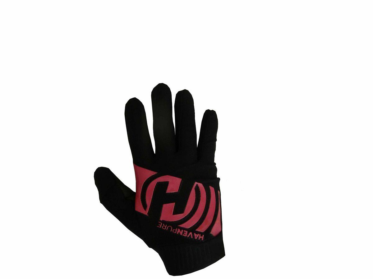 Dlhoprsté rukavice HAVEN PURE black/pink