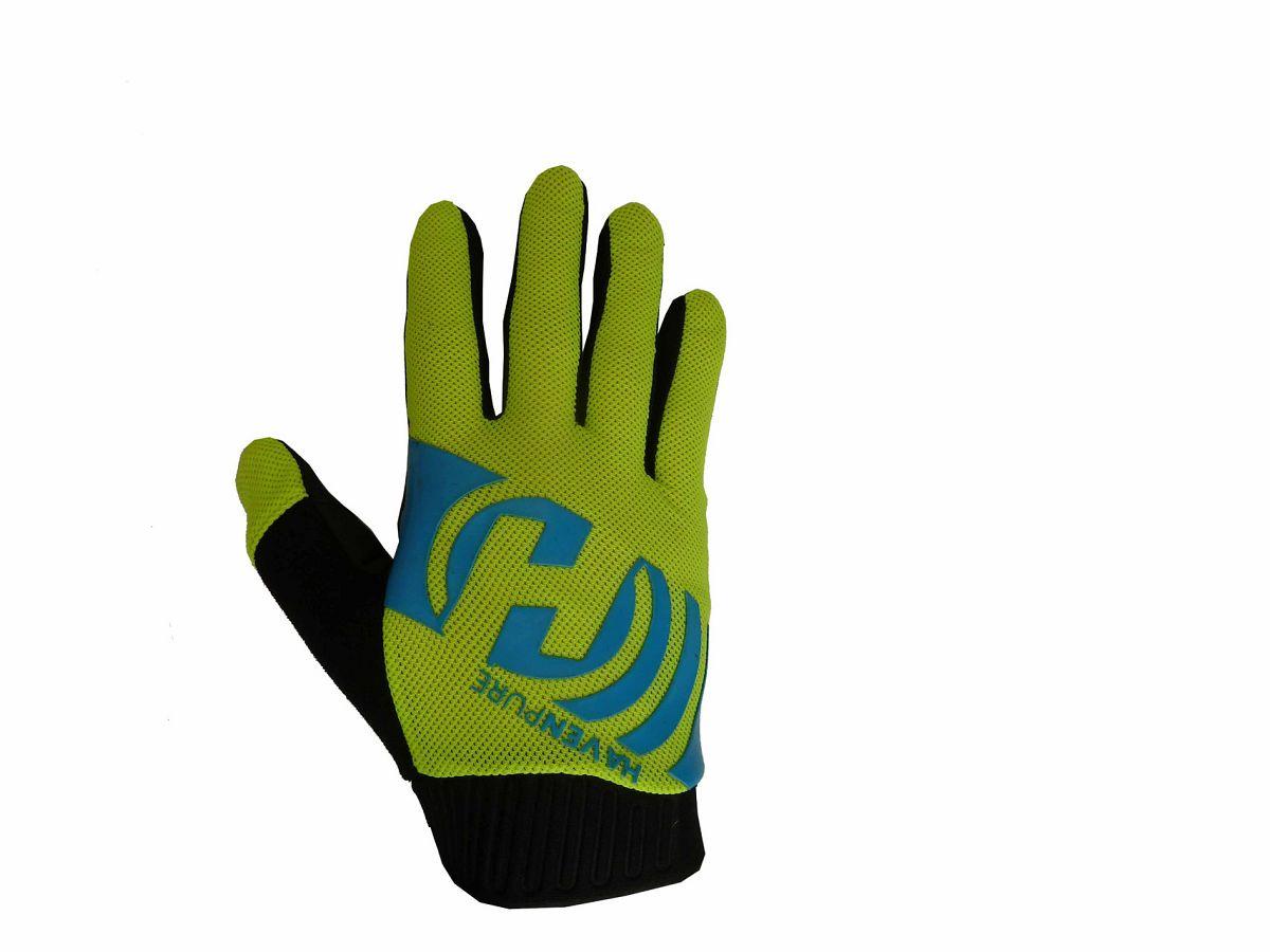 Dlhoprsté rukavice HAVEN PURE blue/green