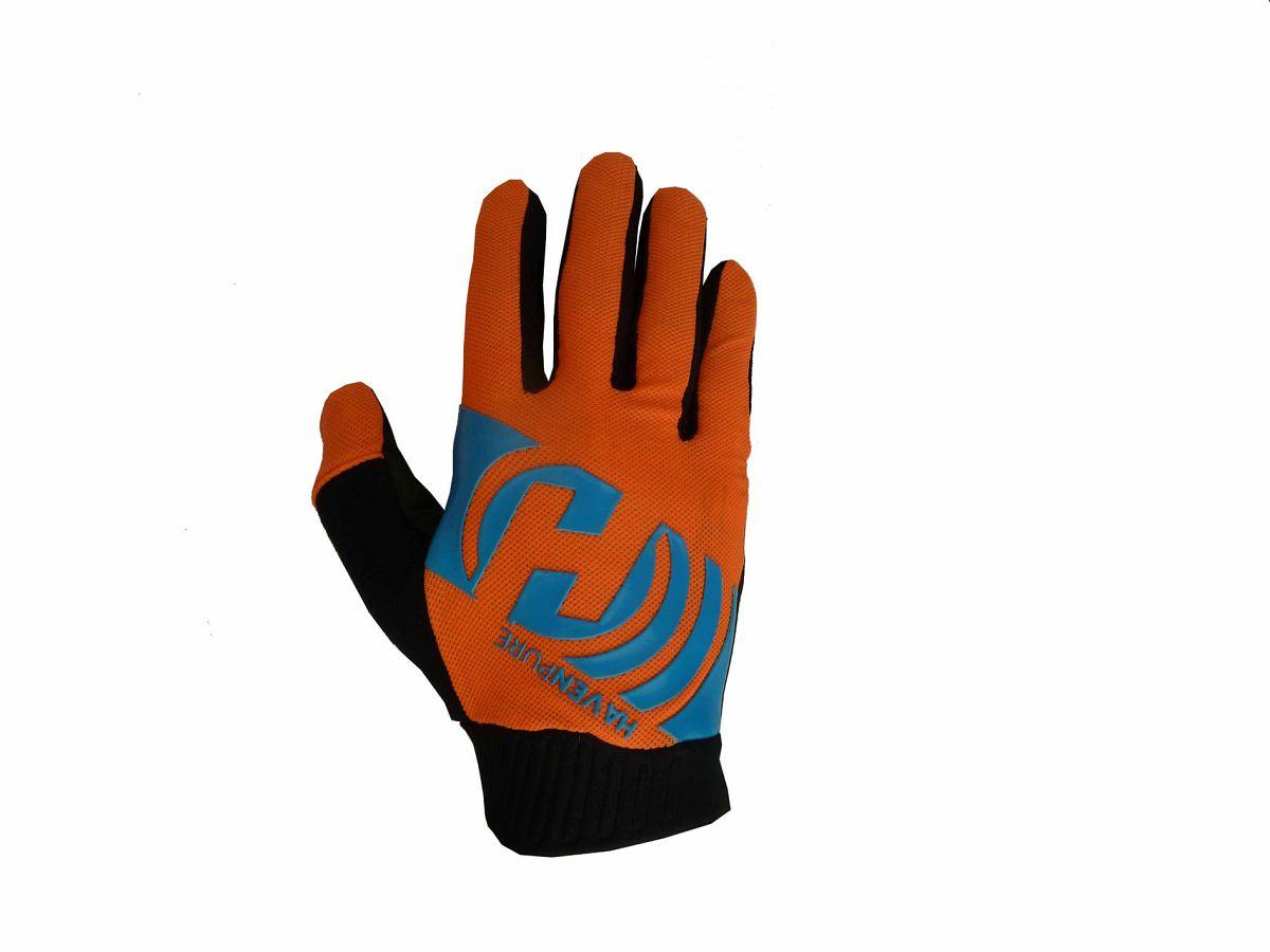 Dlhoprsté rukavice HAVEN PURE blue/orange