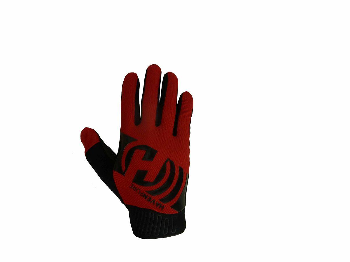Dlhoprsté rukavice HAVEN PURE red