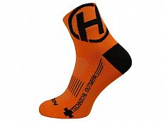 Ponožky HAVEN LITE Silver NEO orange/black 2 páry