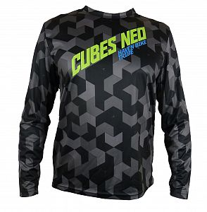 Volný dres HAVEN Cubes   NEO Long Black/Green