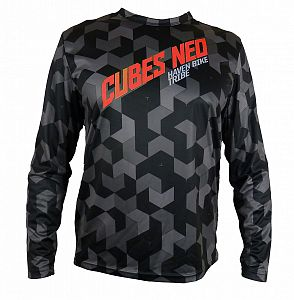 Volný dres HAVEN  Cubes   NEO Long Black/Red