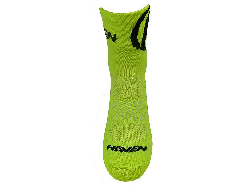 Ponožky HAVEN LITE Silver NEO yellow/black 2 páry