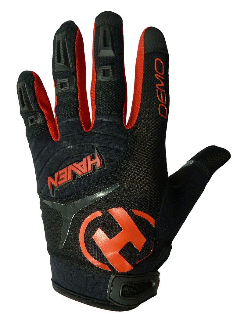 Dlhoprsté rukavice HAVEN DEMO LONG black/red