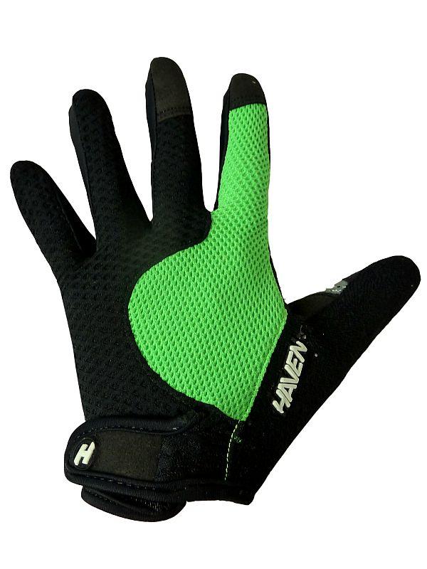 Dlhoprsté rukavice HAVEN KIOWA LONG black/green