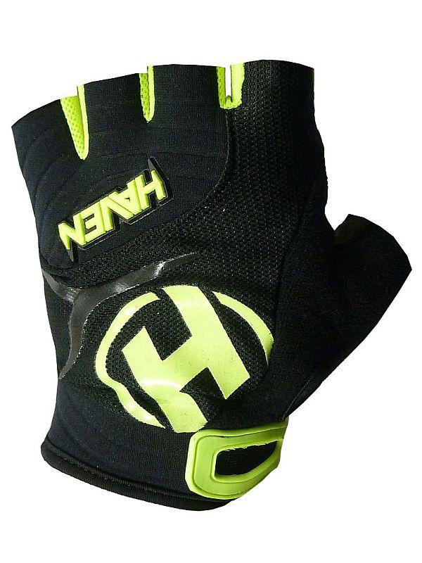 Krátkoprsté rukavice HAVEN DEMO SHORT black/green