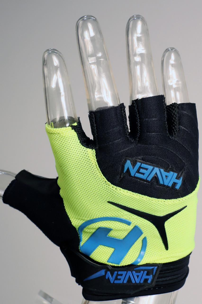 Krátkoprsté rukavice HAVEN DEMO SHORT green/blue